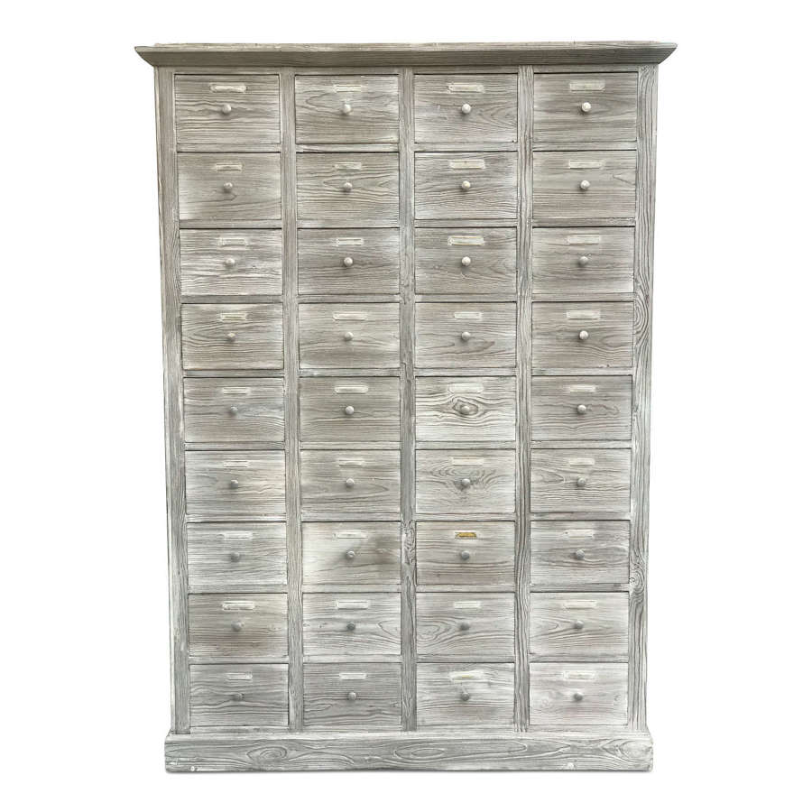 Large 20th Century Bank of Drawers