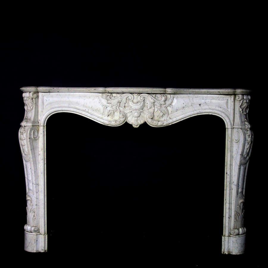 19th Century Louis XV Sicilian Marble Chimneypiece