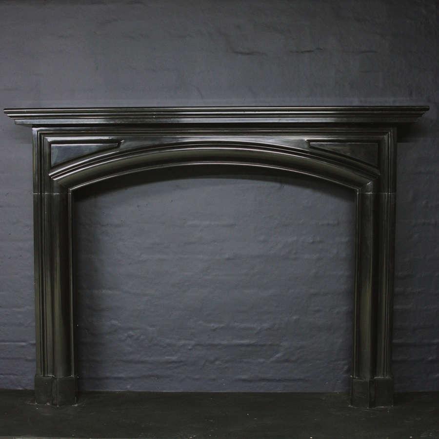19th Century Belgian Black Marble Chimneypiece