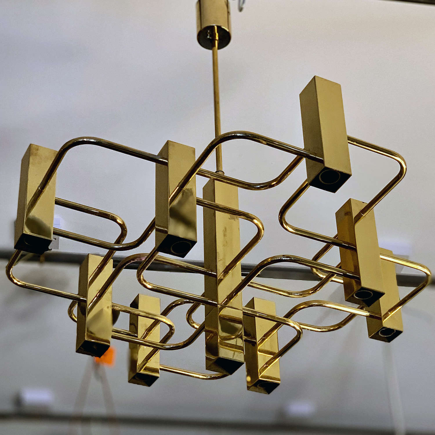 Mid-Century 9-Light Chandelier by Gaetano Sciolar