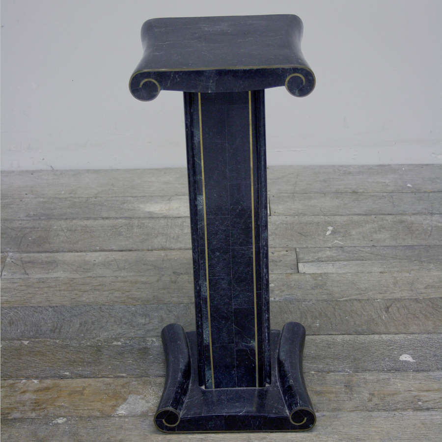 Late 20th Century Maitland and Smith Marble and brass Pedestal.