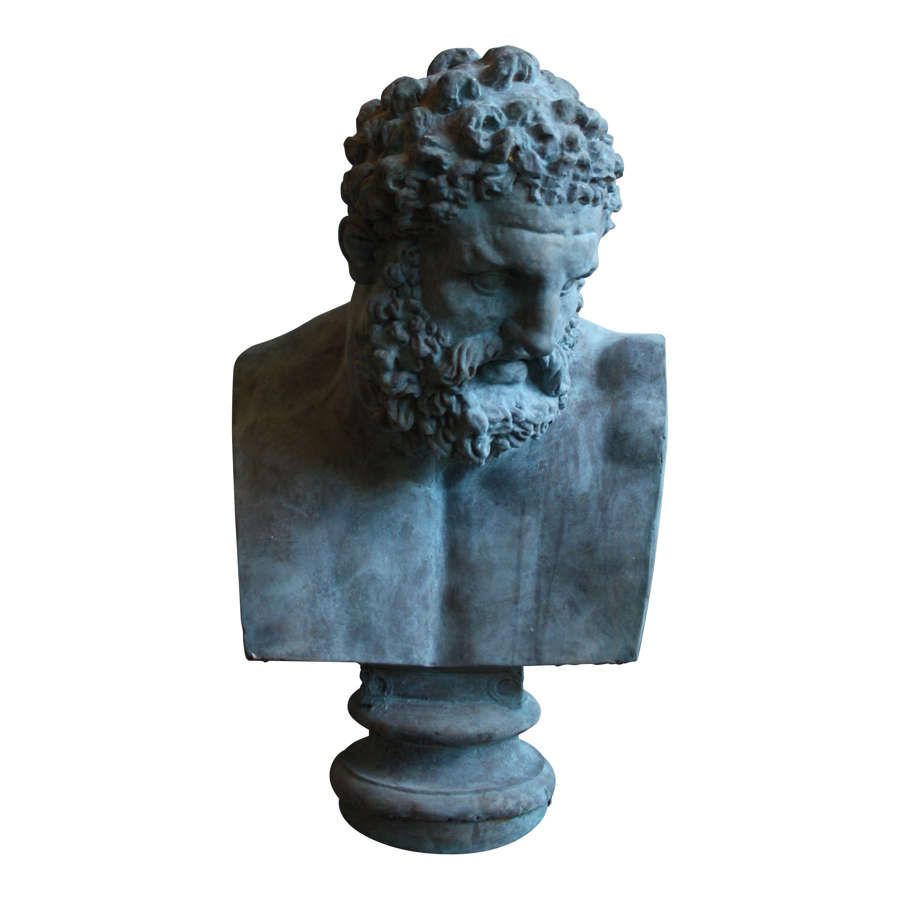 LARGE BUST OF HERCULES AFTER THE ANTIQUE