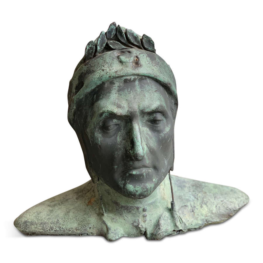 20TH CENTURY BUST OF DANTE