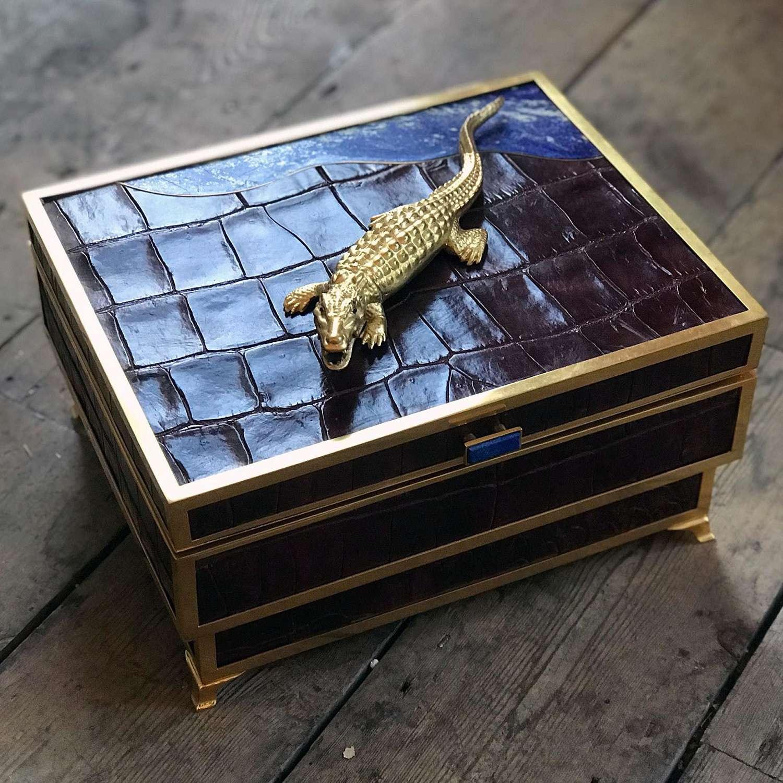 Humidor with secret compartment by Glynn Lockett