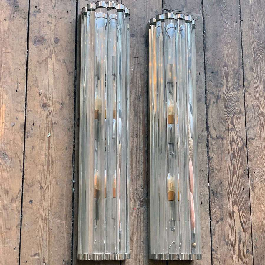 LARGE MID CENTURY STYLE WALL LIGHTS
