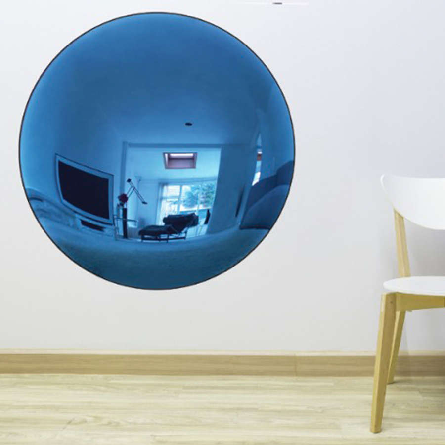 Blue Convex Mirror