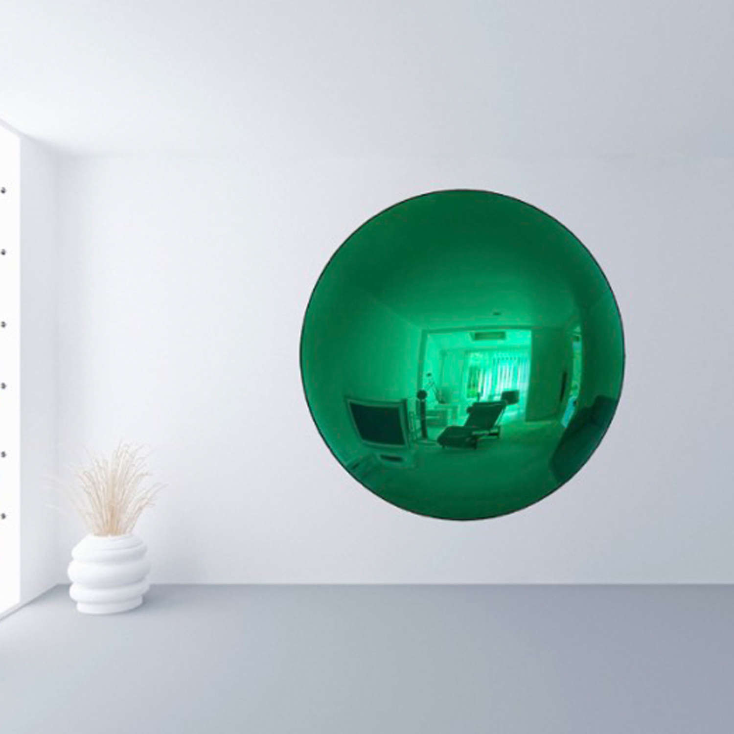 Large Green Convex Mirror