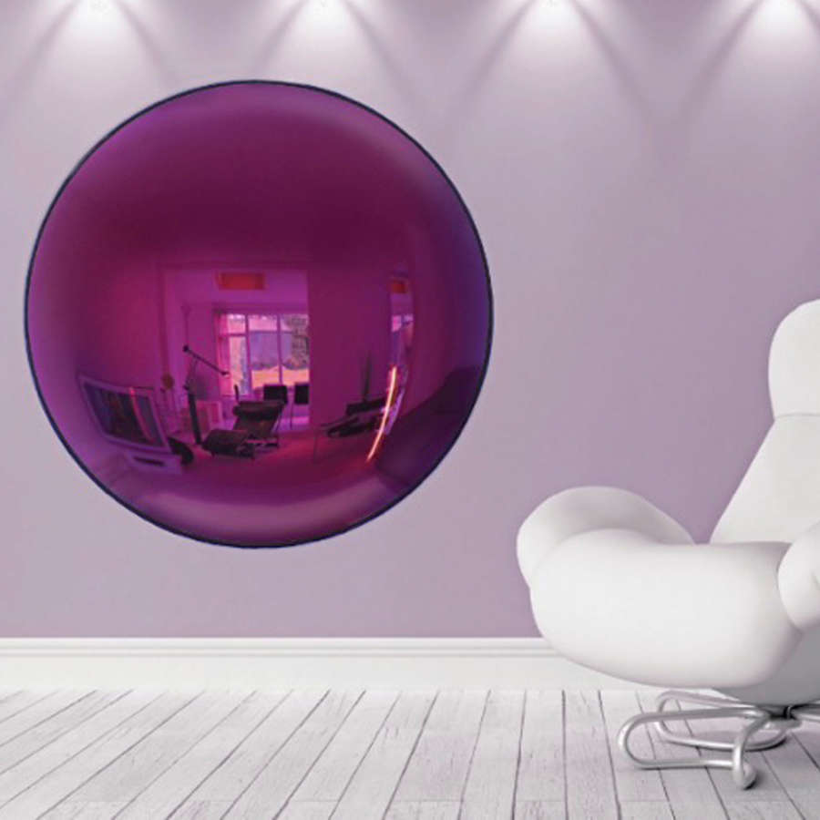Large Purple Convex Mirror
