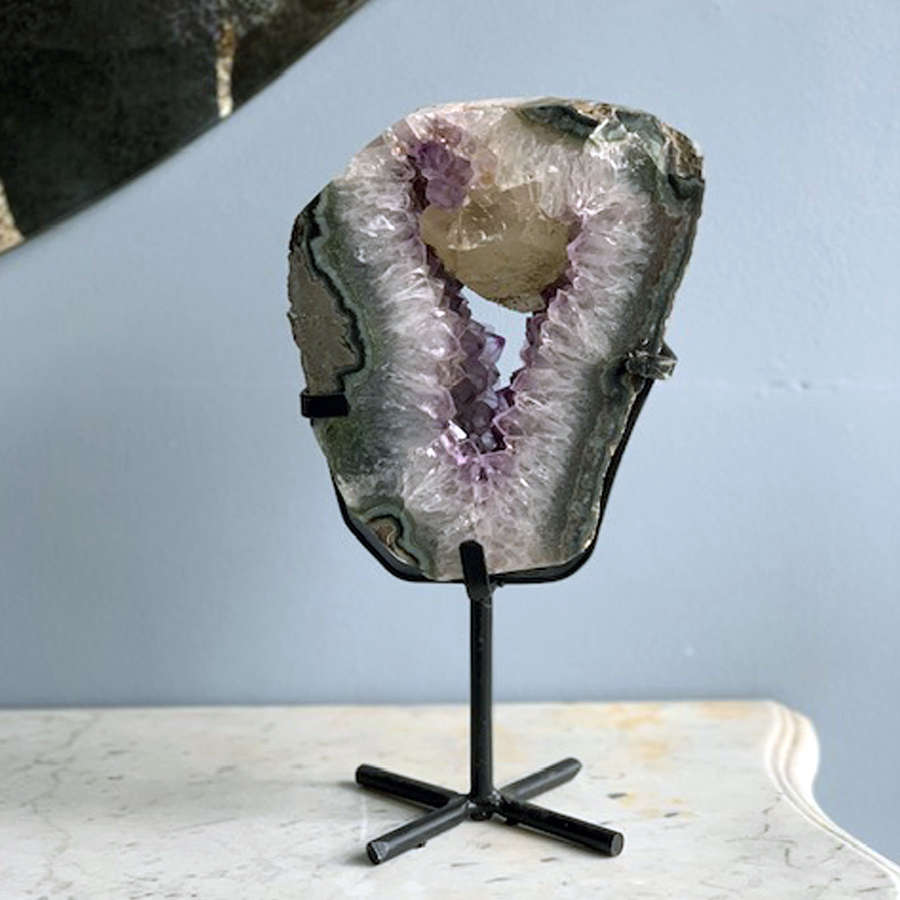 Large Amethyst Ring on Stand