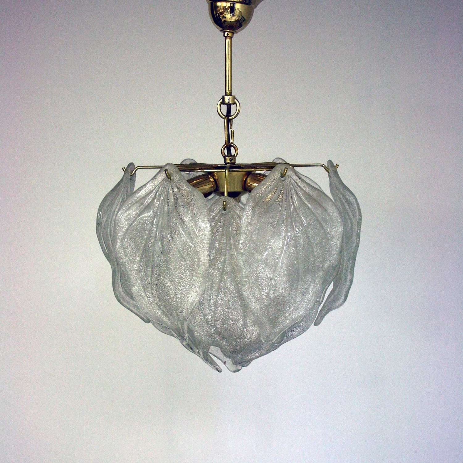 Small elegant Murano Leaf Chandelier