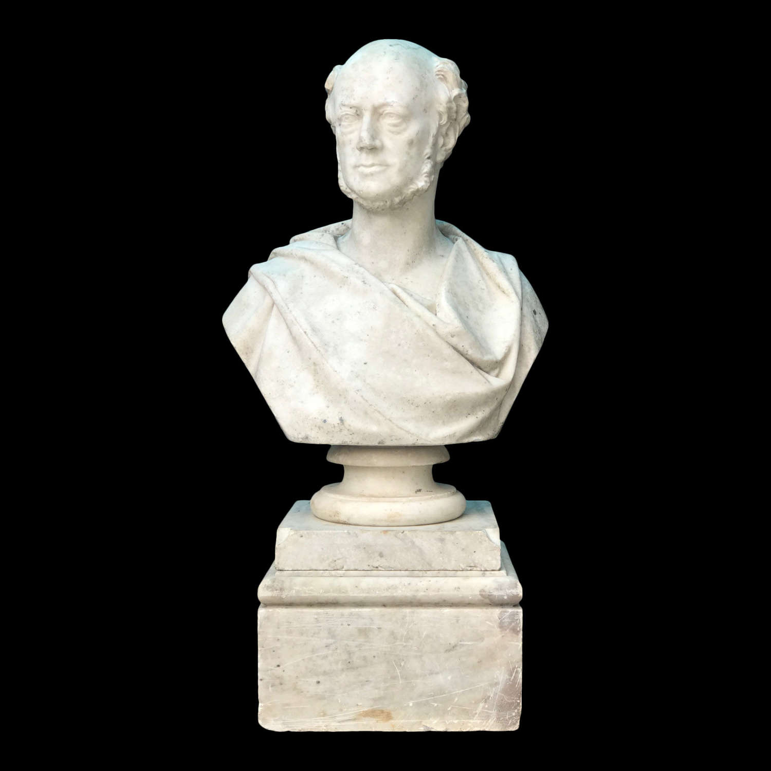 A large 19th Century Marble bust of a Gentleman