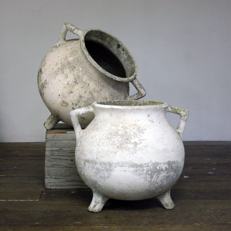 Pair of 20th Century Willy Guhl Pots
