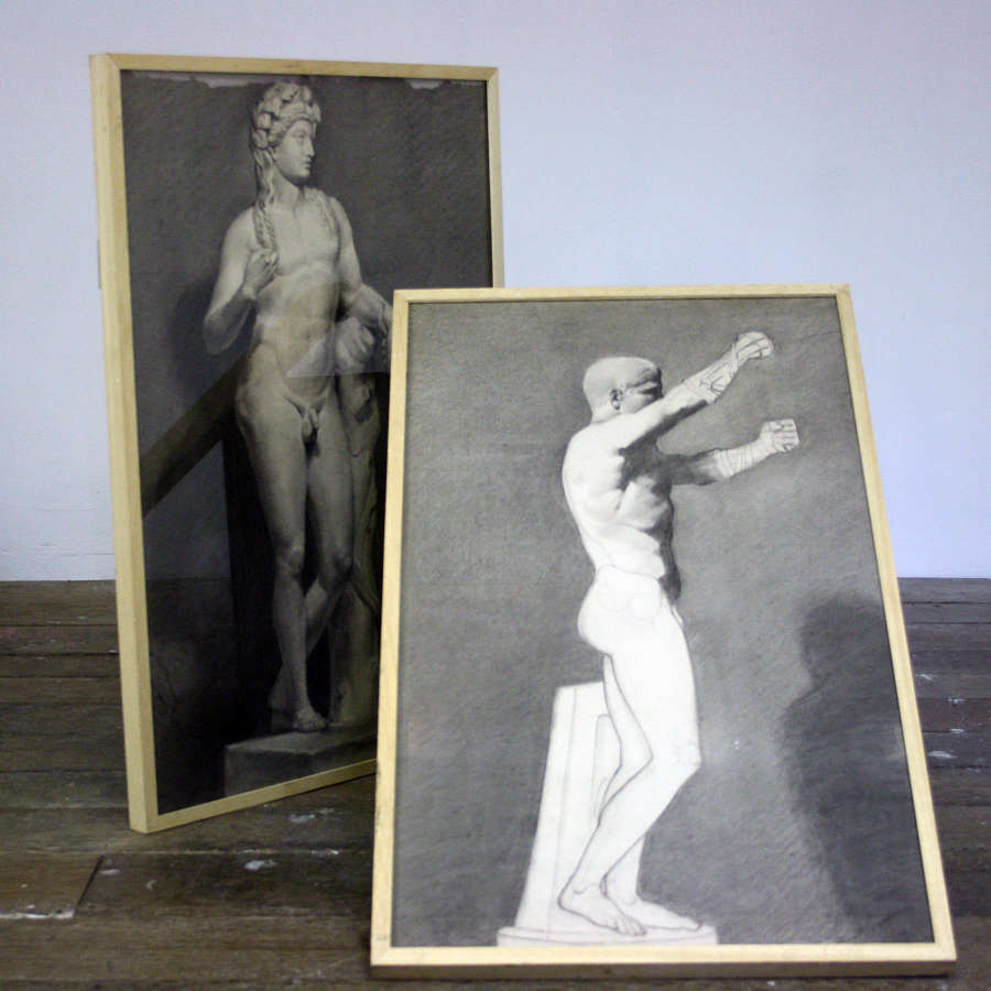 Early 20th Century Sketches of Bacchus and Boxer