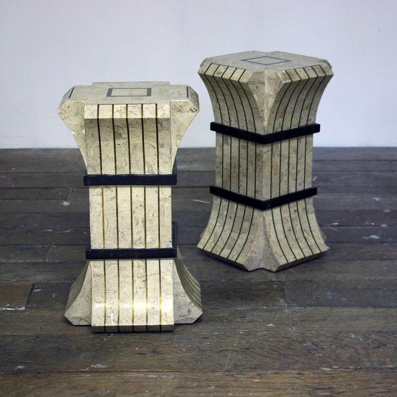 Pair of Maitland Smith Pedestals