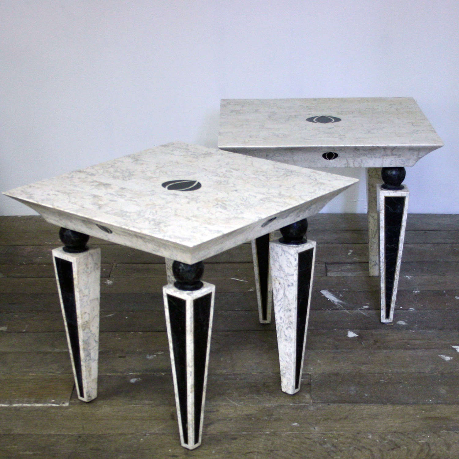 20th Century Marble side tables by Maitland-Smith