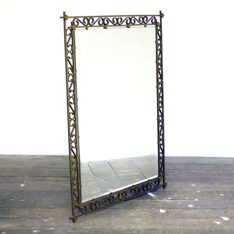 20th Century Heavy Brass Mirror