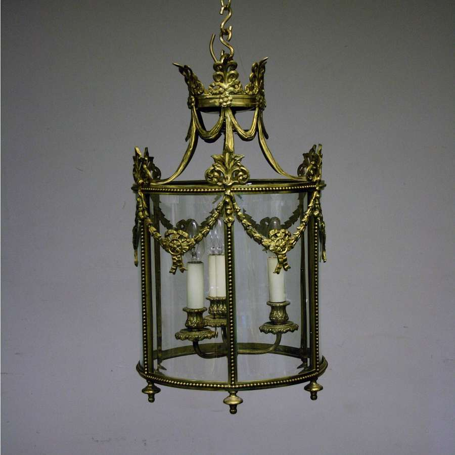 20th Century highly Decorated Brass Lantern
