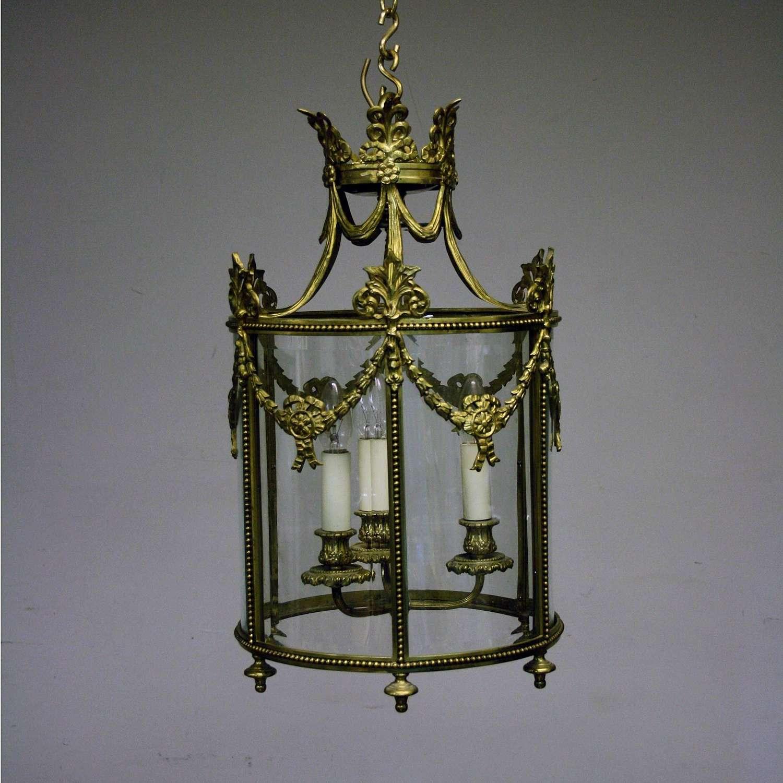 20th Century highly Decorated Brass Lantern