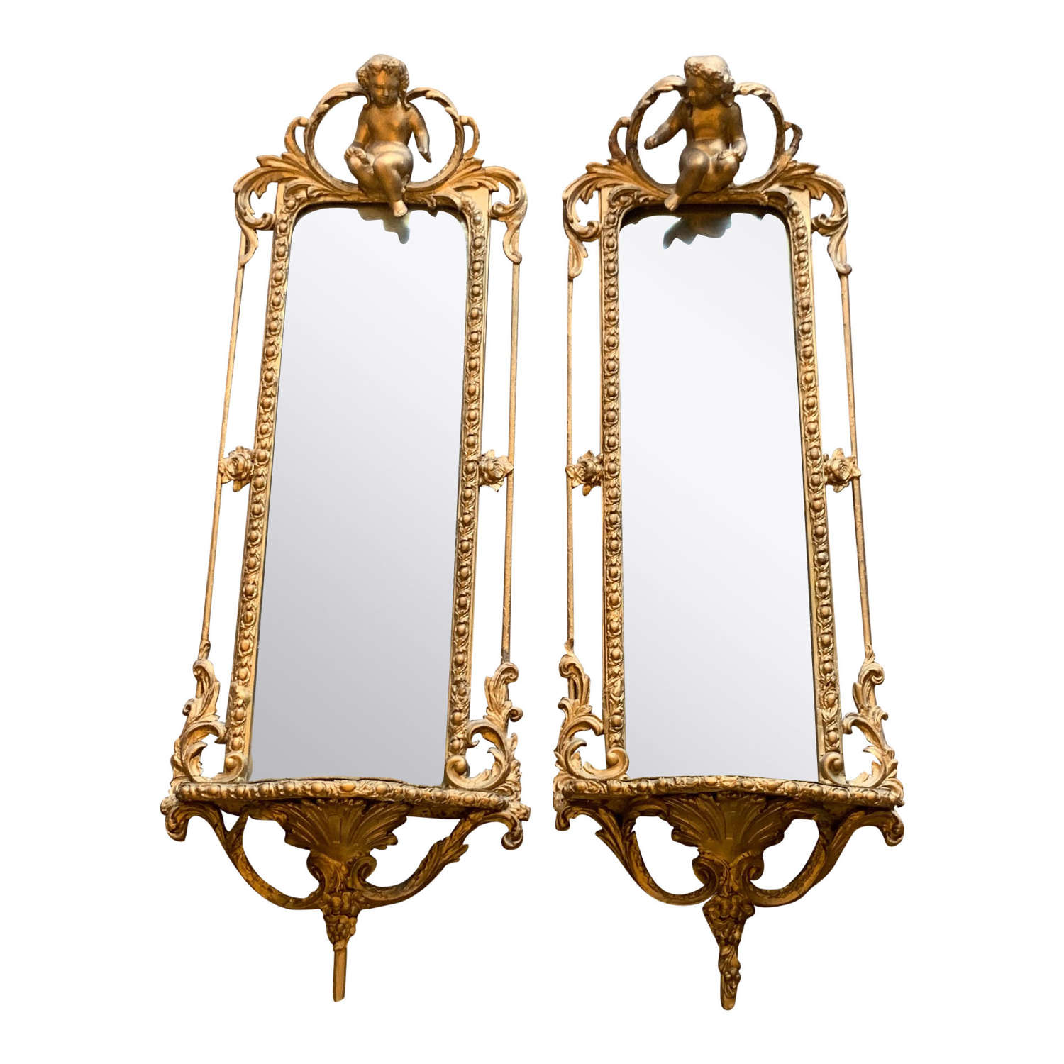 Pair of Mid 19th Century Mirror Brackets