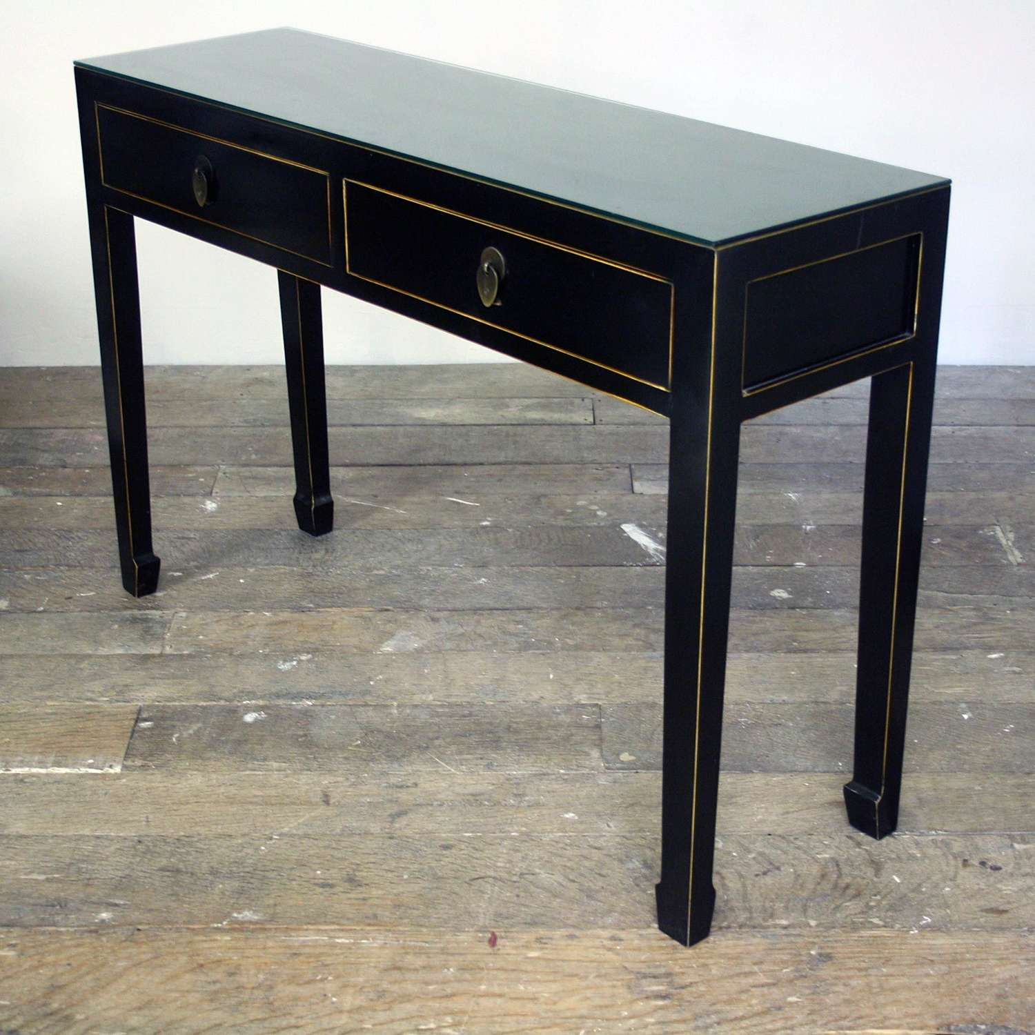 20th Century Black Lacquered Sideboard