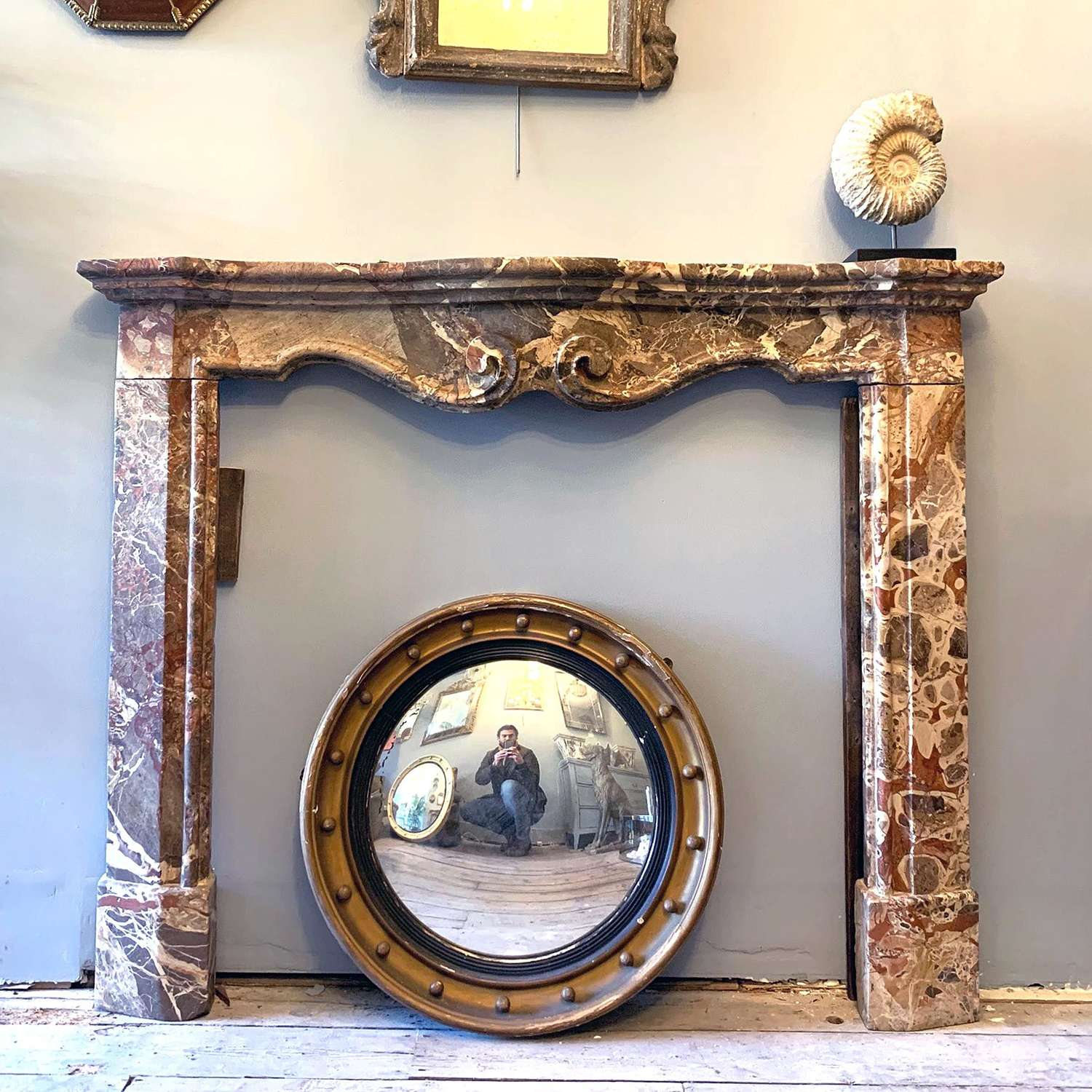 18th Century French Jasper Marble Chimneypiece