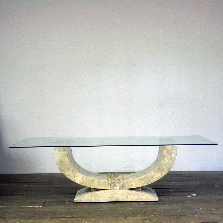 Maitland-Smith tesselated marble Coffee Table