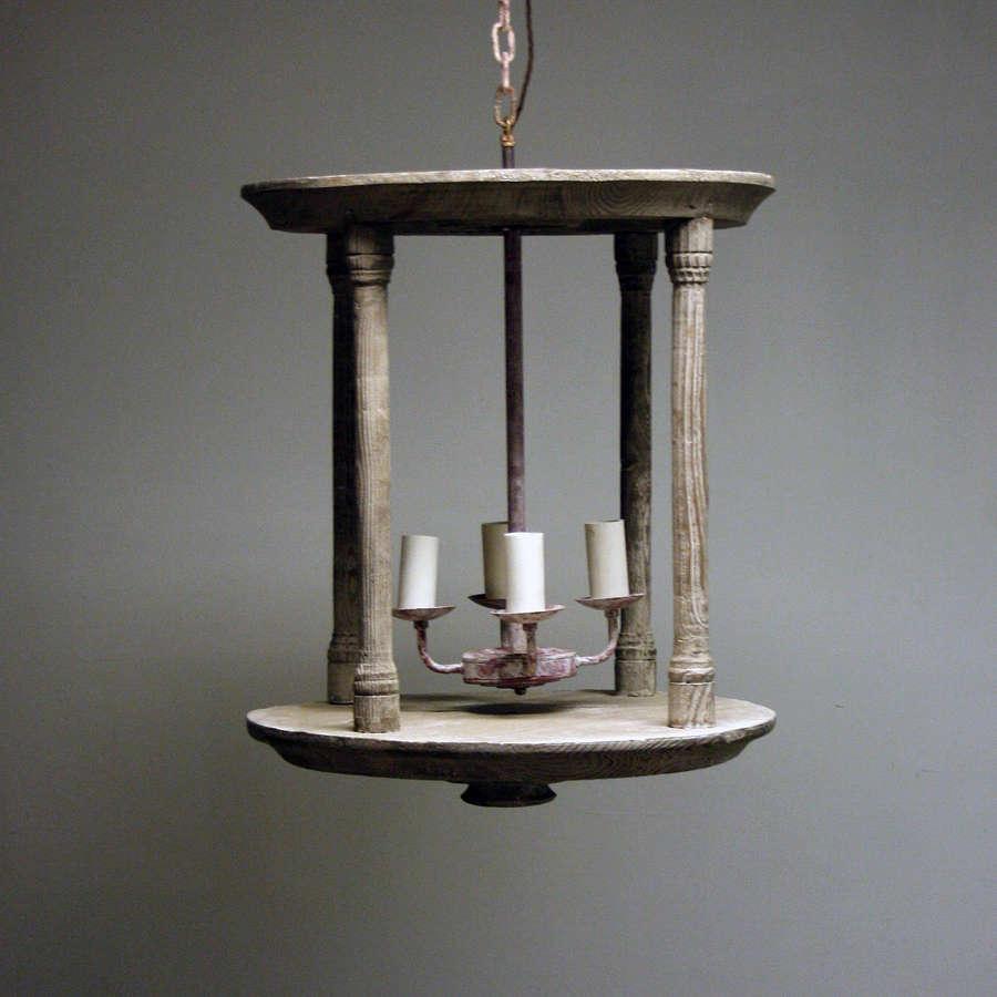 Circular Wooden Lantern