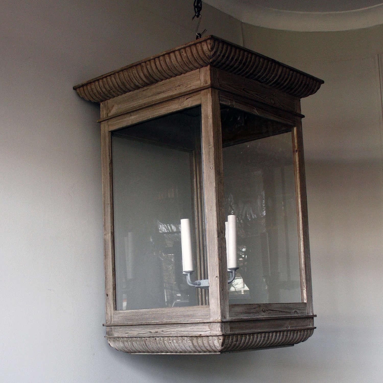 Oversized Wooden Lantern