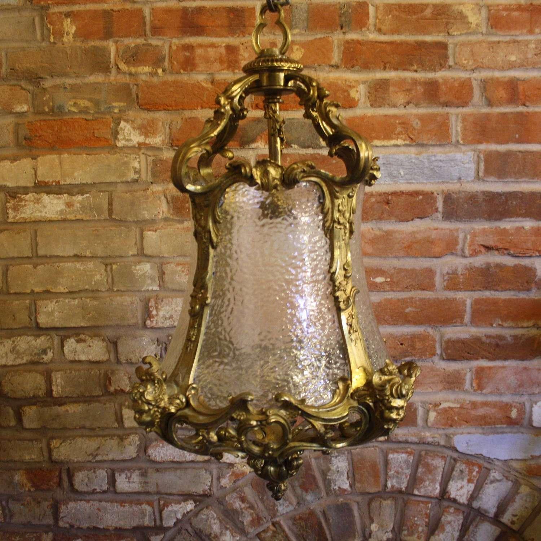 19th Century Gilt Metal Antique Lantern