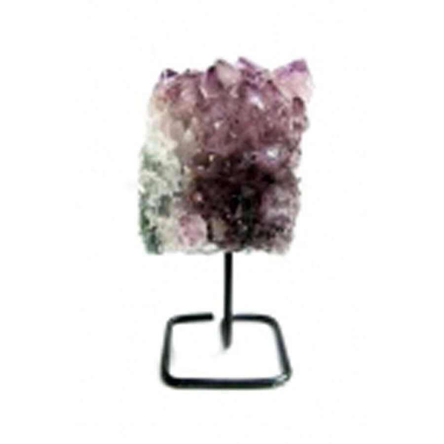 Small Amethyst Cluster on metal stand