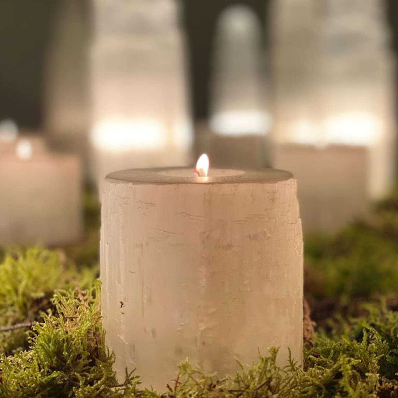Selenite Crystal Tea Light Holders