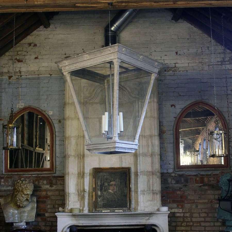 Monumental Wooden Lantern