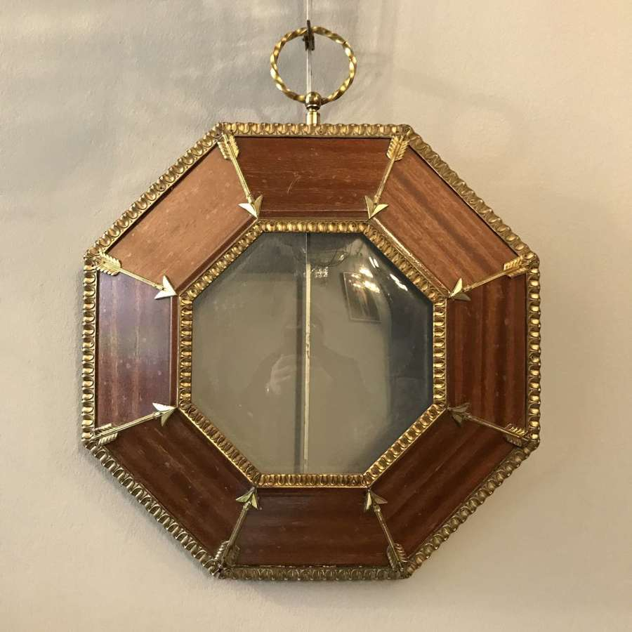 Unusual 19th early 20th Century frame with Convex Glass
