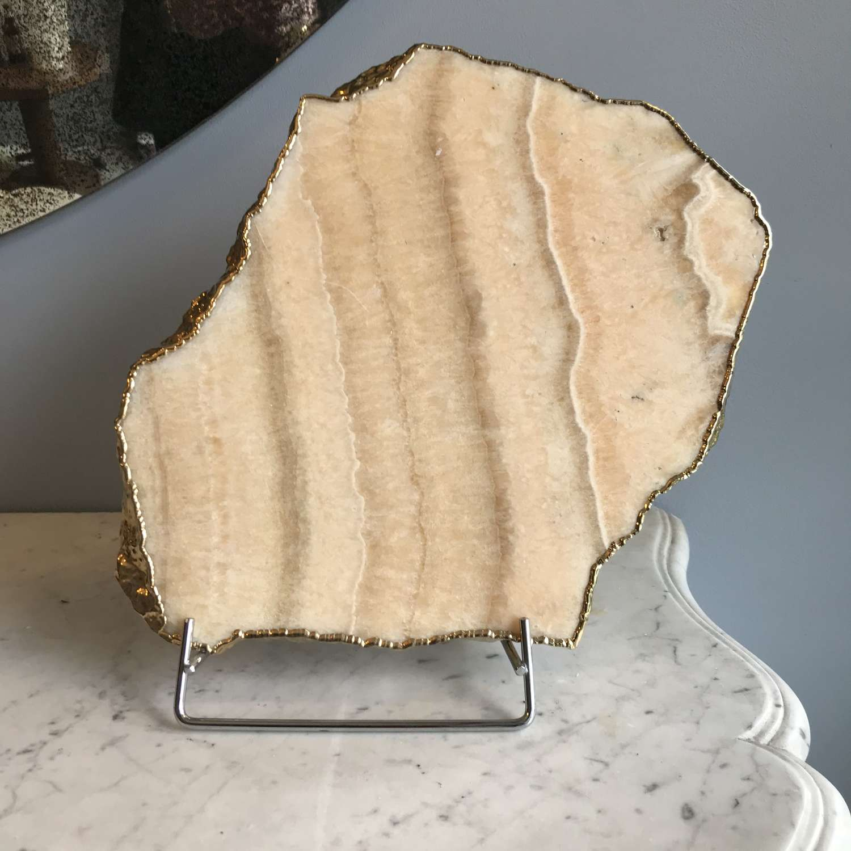 Gilded Calcite - Onyx Platter