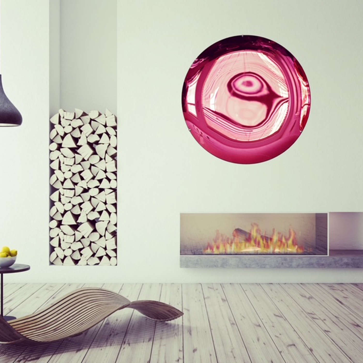 Ruby Red Concave Mirror