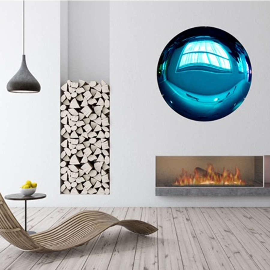 Sapphire Blue Concave Mirror