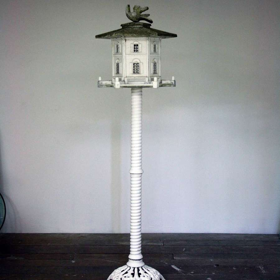 20th Century Cast Metal Bird Feeder
