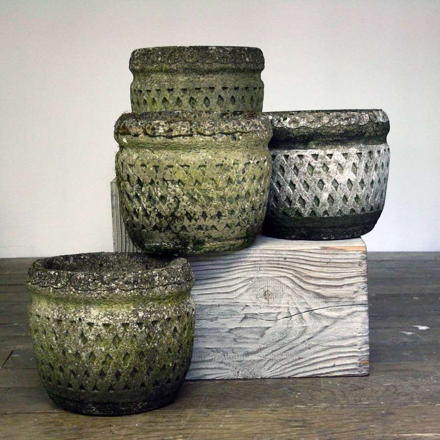 Collection of Cast Stone Pots