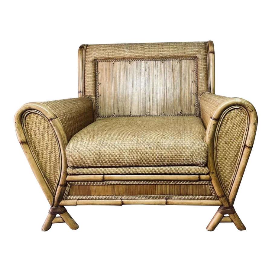 20th Century Bamboo Armchair