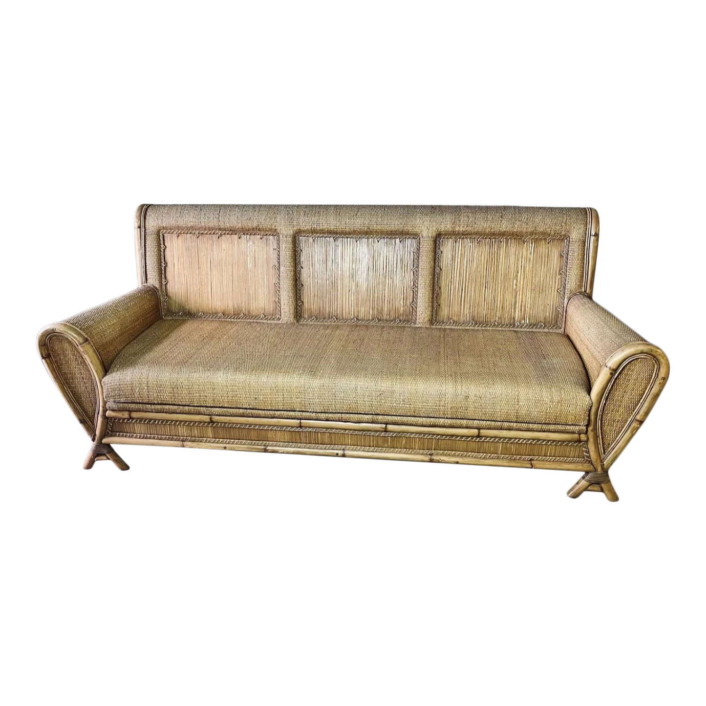 20th Century Bamboo Sofa